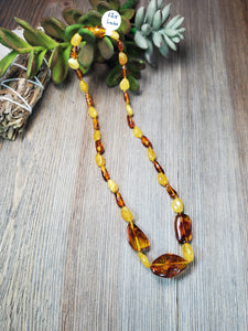 Lemon Baltic Amber Necklace, Adult Pain Necklace