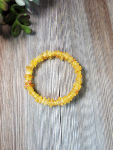 Raw Lemon Baltic Amber Wire Wrap
