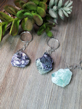 Load image into Gallery viewer, Raw Fluorite Keychain