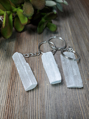Selenite Keychain