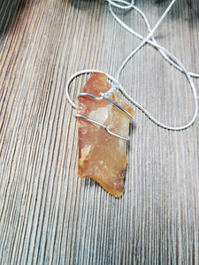 Honey Agate Pendant