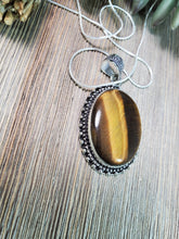 Load image into Gallery viewer, Tiger's Eye Pendant TE1