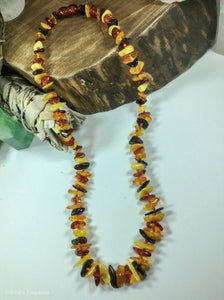 Multi Colored Baltic Amber Necklace