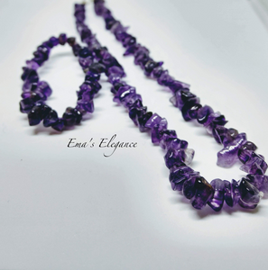 Amethyst Necklace, Ring and Bracelet