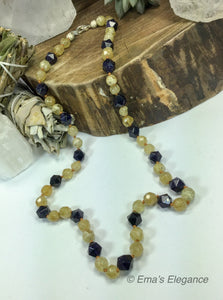 Citrine Blue Goldstone Mix