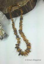 Load image into Gallery viewer, Green Chip Baltic Amber Necklace