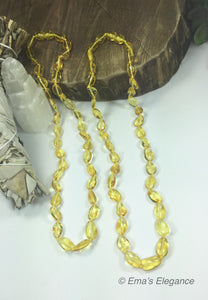Polished lemon Baltic Amber Necklace