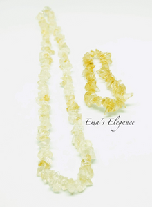 Citrine Necklace and Bracelet