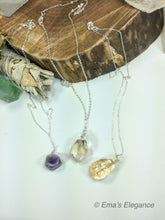 Load image into Gallery viewer, Three Small Pendants, Amethyst, Citrine, Quartz