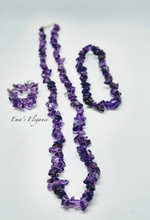 Load image into Gallery viewer, Amethyst Necklace, Ring and Bracelet