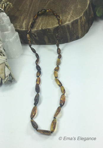 Green Baltic Amber Necklace