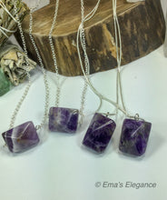 Load image into Gallery viewer, Amethyst Pyramid Pendants