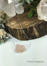 Load image into Gallery viewer, Raw Rose Quartz Pendant
