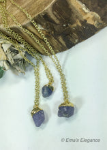Load image into Gallery viewer, Tanzanite Chip Pendant