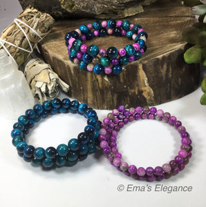 Blue Tigers Eye and Sugilite Mix