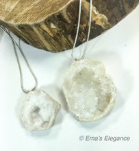 Load image into Gallery viewer, White Agate Slice Pendant