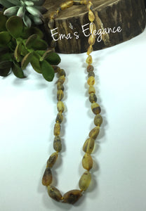 Light Green Baltic Amber Necklace