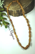 Load image into Gallery viewer, Raw Caramel Baltic Amber Necklace, Migraine, Pain, Inflammation