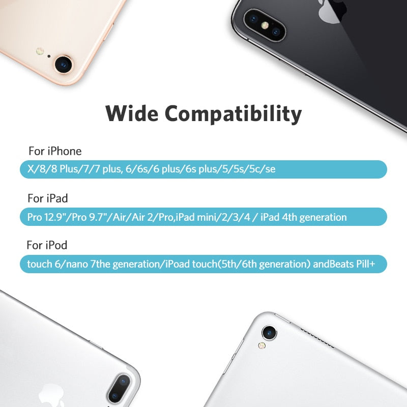 best website 4bcf4 ea665 Ugreen MFi USB Cable for iPhone 8 X 7 6S Plus 2.4A Fast Charging Lightning  Cable for iPhone 6 USB Data Cable Phone Charger Cable