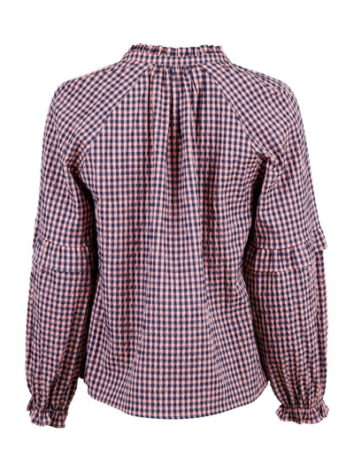 Neo Noir - Willow Check Blouse Rose