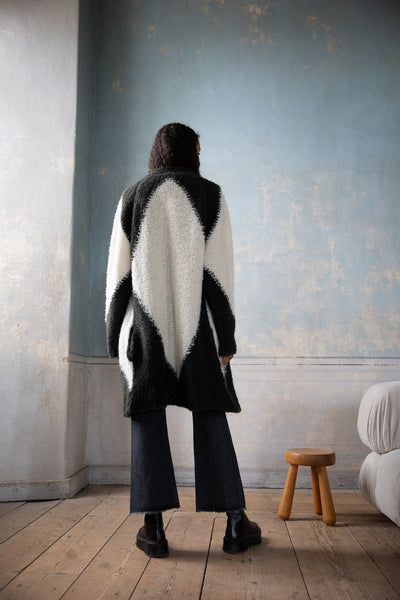 Ragdoll LA  - Black White Cardigan