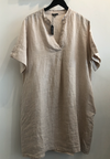 Black Colour - Lima Linen Tunic Nature
