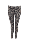 Black Colour - Anine Mesh Leggings Zebra
