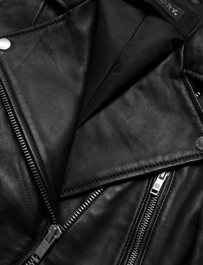 Superdry - Classic Black Leather Biker