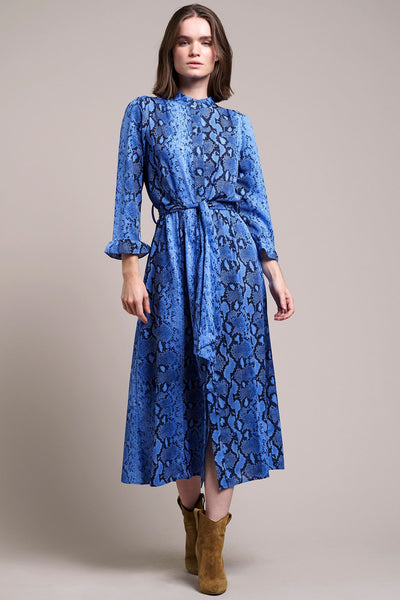 Lollys Laundry - Harper Dress Blue Snake