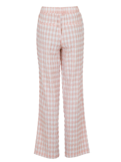 Neo Noir - Zena Summer Check Pants Light Pink
