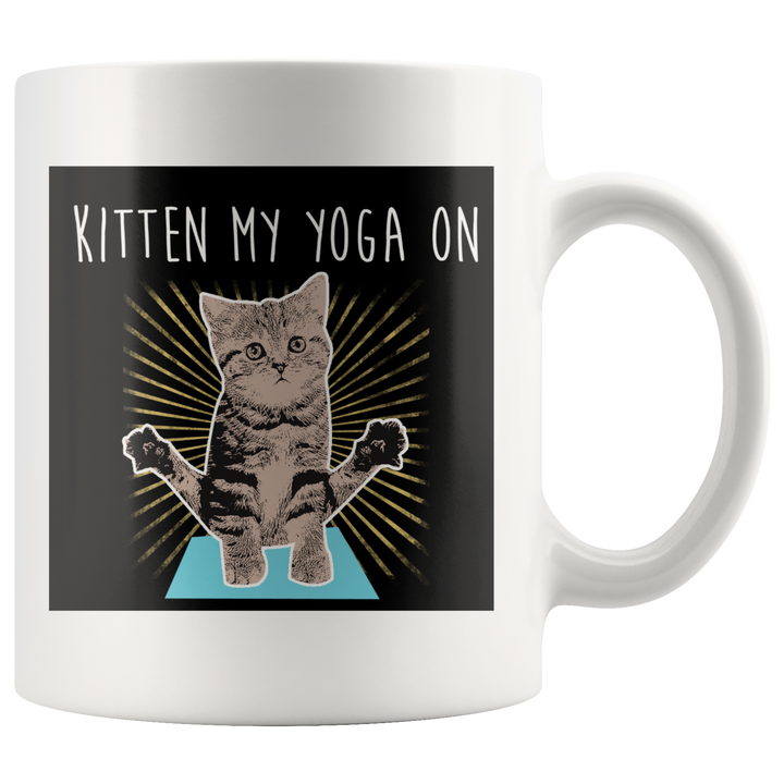 Kitten My Yoga On Mug - Prone Pigeon