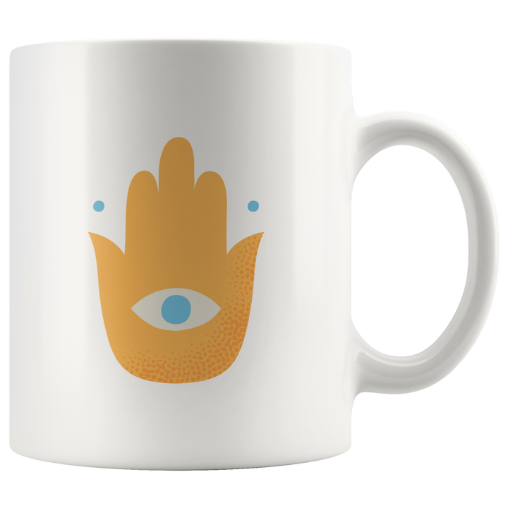 Orange Hand Mug - Prone Pigeon