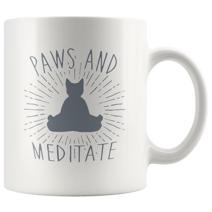 Paws and Meditate Mug