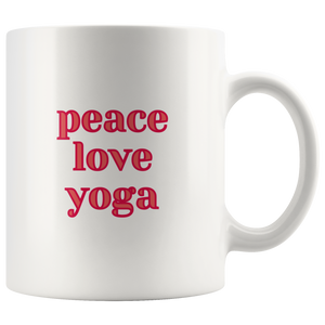 Peace Love Yoga Mug