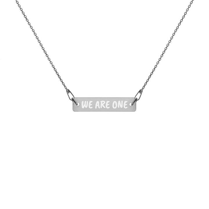 Engraved We Are One Bar Chain Necklace