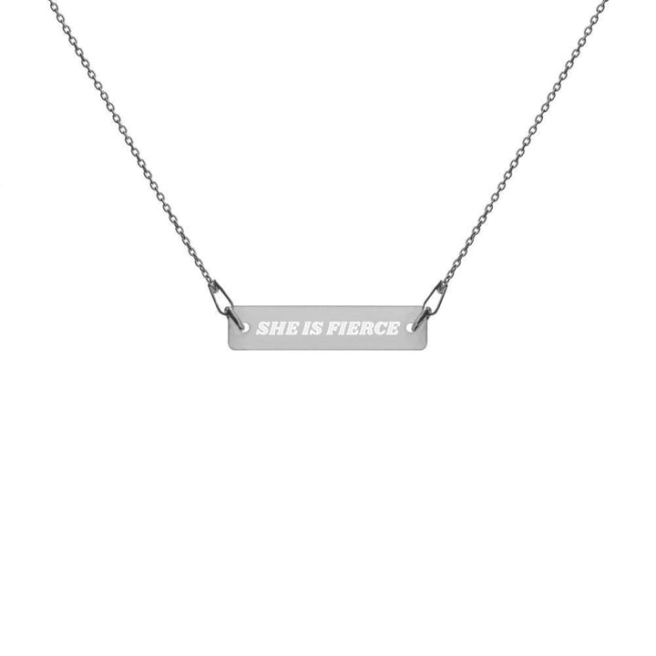 Engraved Fierce Bar Chain Necklace