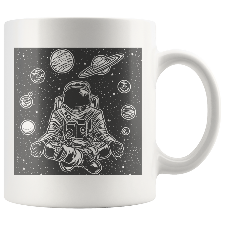 Space Yoga Mug - Prone Pigeon