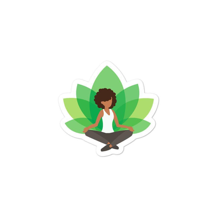 Green Yoga Sticker - Prone Pigeon