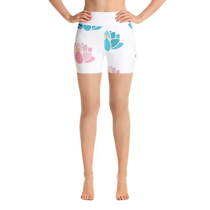 Yoga Shorts with Pocket - Lotus
