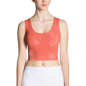 Coral Watercolor Crop Top
