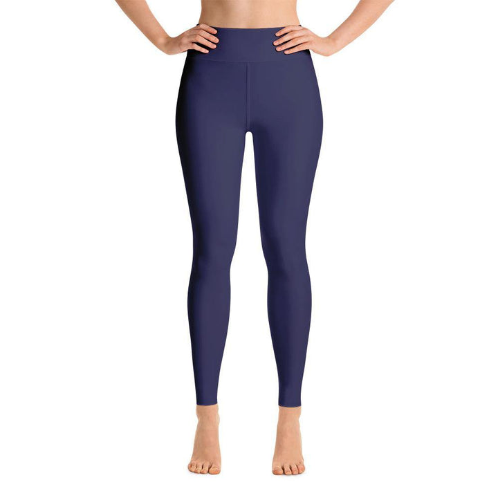 Ankle Length Leggings with Pocket - Blue - Prone Pigeon