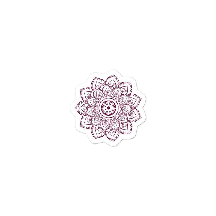 Purple Flower Mandala Sticker