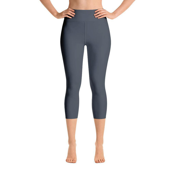 Capri Leggings with Pocket - Grey