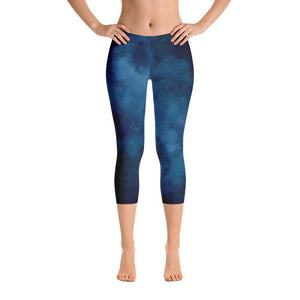 Blue Capri Leggings