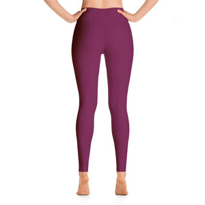 Ankle Length Leggings with Pocket - Maroon