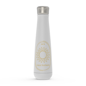 Sun Salutation Gold On White Water Bottle