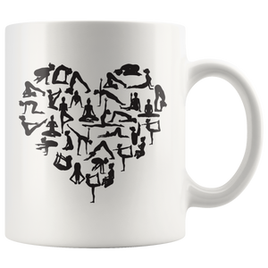 Yoga pose Heart Mug