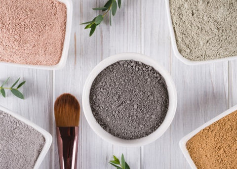 Clay Types Natural Cosmetics White Clay Green Clay Pink Clay Yellow Clay