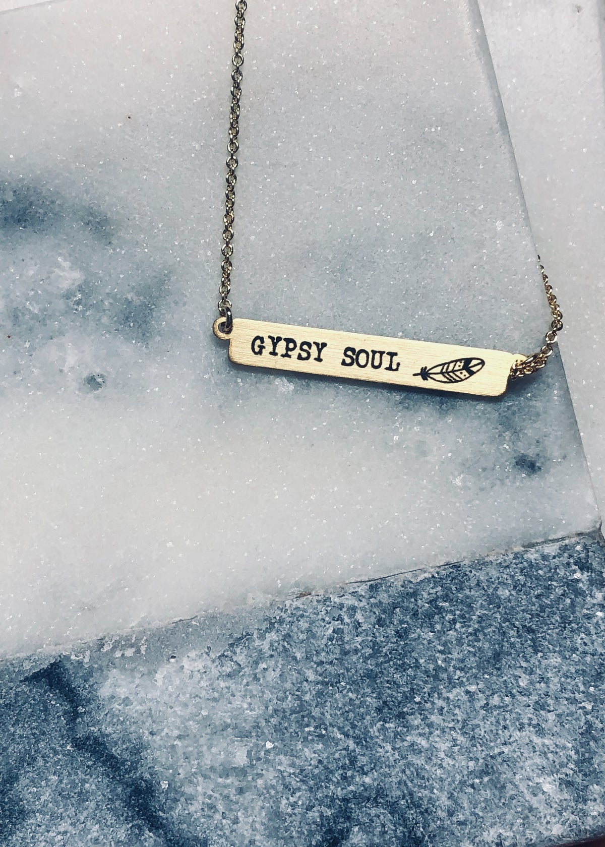 Gypsy Soul Gold Bar Necklace