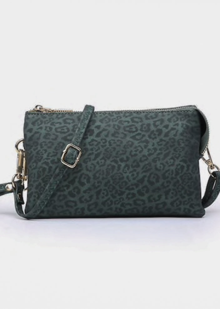 Dark Green/Black Cheetah Crossbody